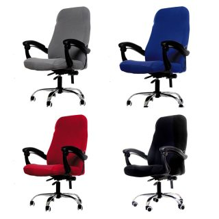 M/L Sizes Office Chair Cover Spandex Elastic Stretch Black Lift Computer Arm Chair Seat Cover Cushion 1PC